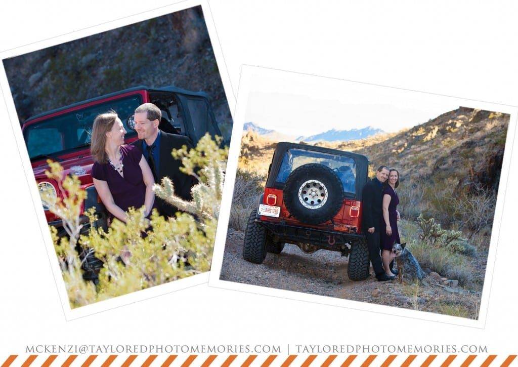 Las Vegas Elopement Photography | Anniversary Photo Shoot | Jeep | Adventure Wedding Photography