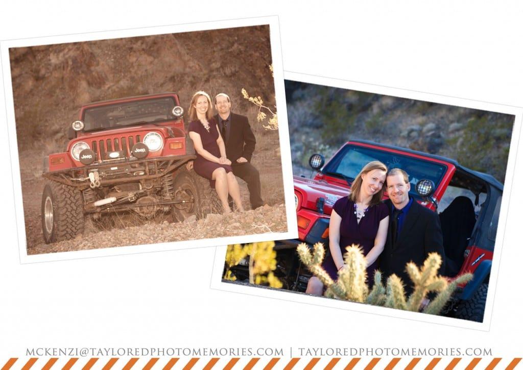 Las Vegas Elopement Photography   Anniversary Photo Shoot   Jeep   Adventure Wedding Photography