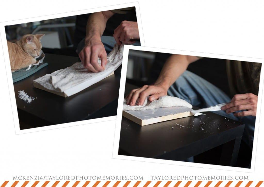 photo transfer to wood | las vegas elopement photography
