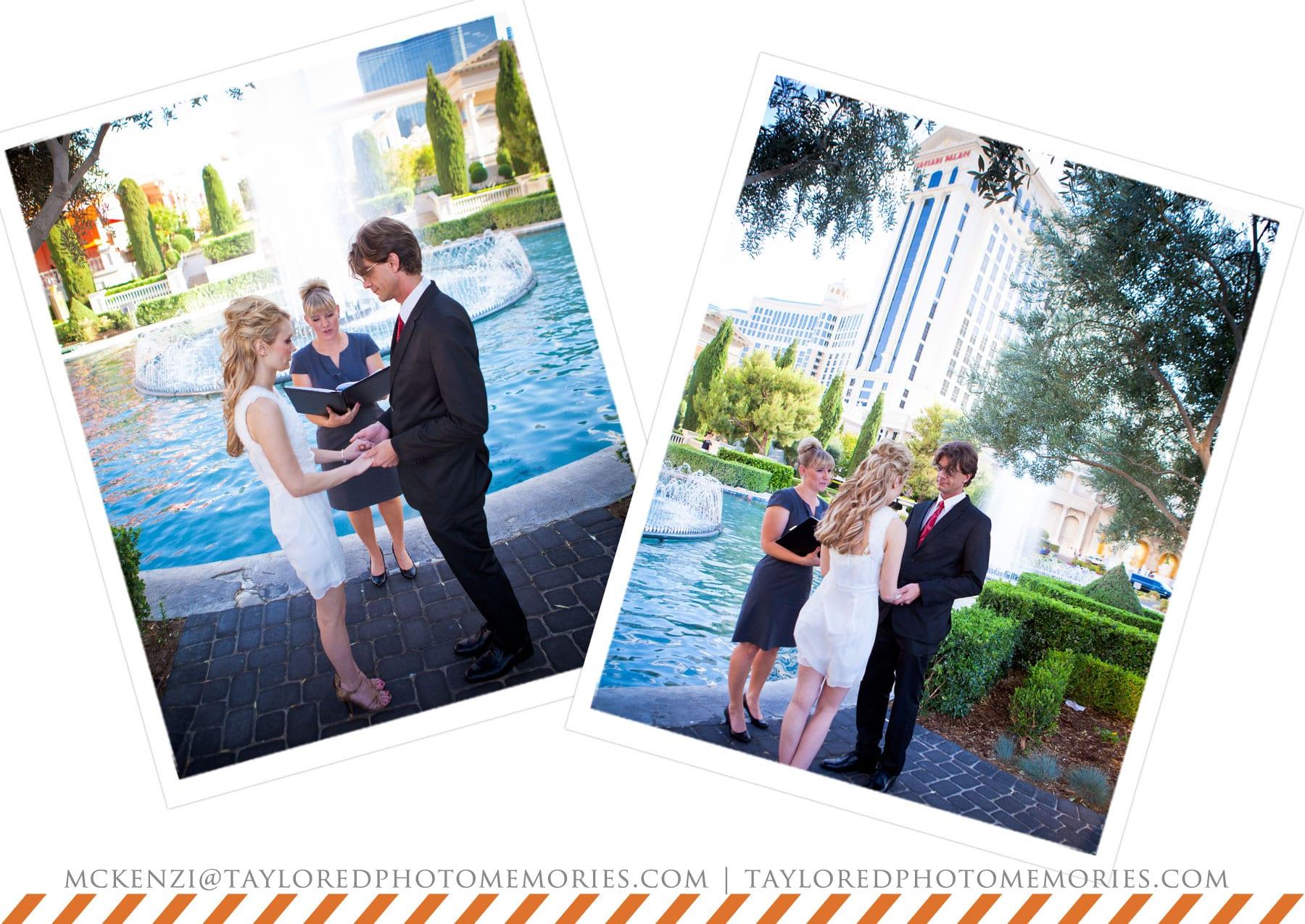 Ceasar's Palace Garden Wedding | Las Vegas Elopement Photography | Adventure Wedding Photographer | Las Vegas Elopement Photographer | Taylored Photo Memories