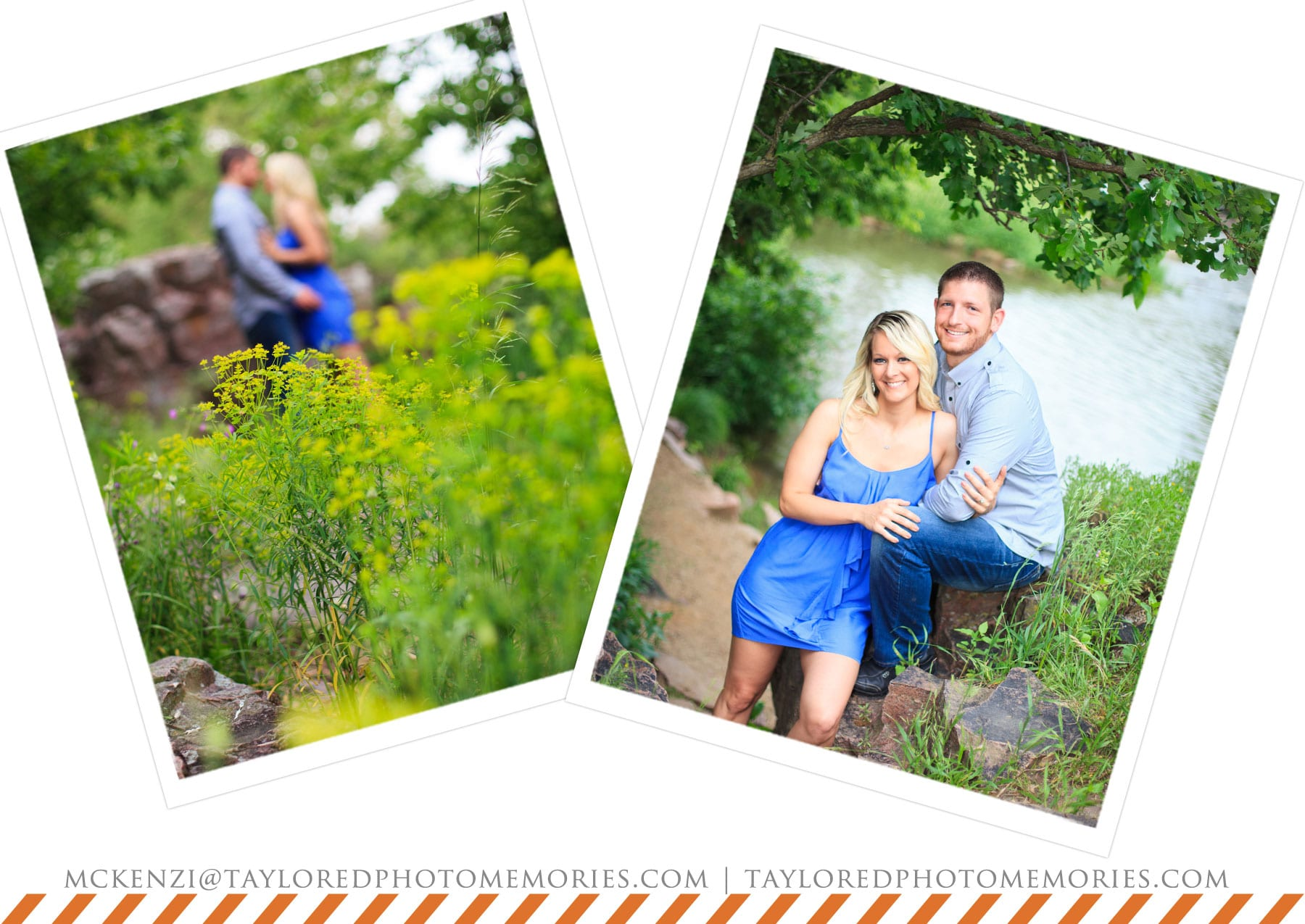 taylored photo memories | south dakota wedding photographer | palisades park engagement session