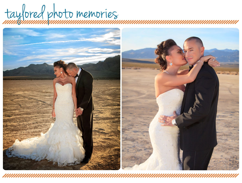 Desert Wedding At Jean Dry Lake Bed A Post Wedding Photo Session Las Vegas Photographers Taylored Photo Memories