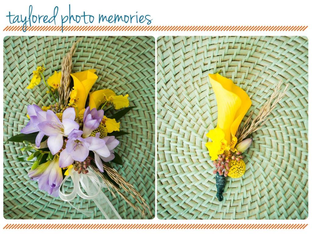 Yellow and Purple Florals for Laguna Beach Wedding - Emerald Bay -Orange County Wedding