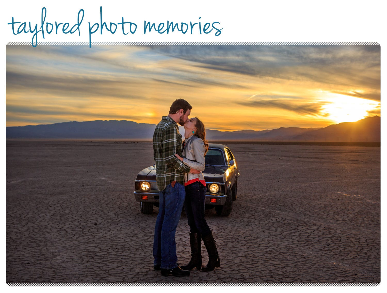 Sunset Photo Shoot at the Dry Lake Bed in Las Vegas NV || Vintage Car Photo Shoot
