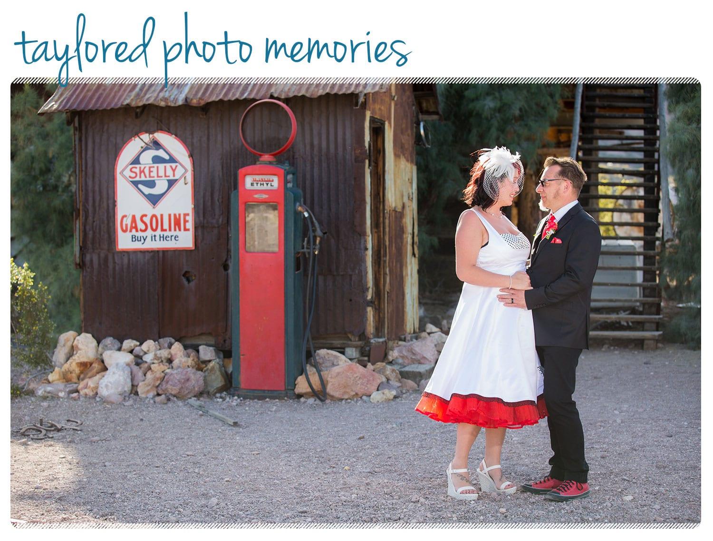 Rockabilly Wedding in Las Vegas at the Viva Las Vegas Rockabilly Weekend - Photo Shoot at Nelson's Landing, Eldorado Canyon