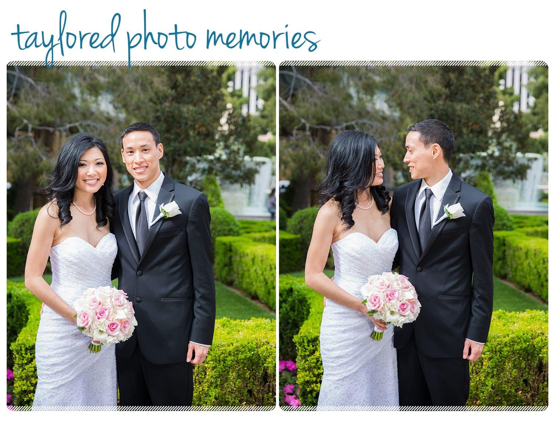 Destination Wedding in Las Vegas. Photos at Bellagio Fountains and Caesars Palace