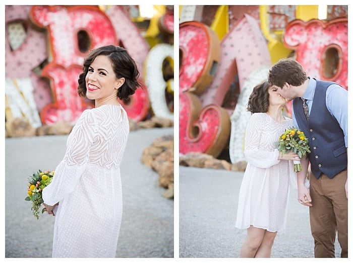 Red Rock Canyon Wedding Las Vegas and Neon Museum Photo Shoot