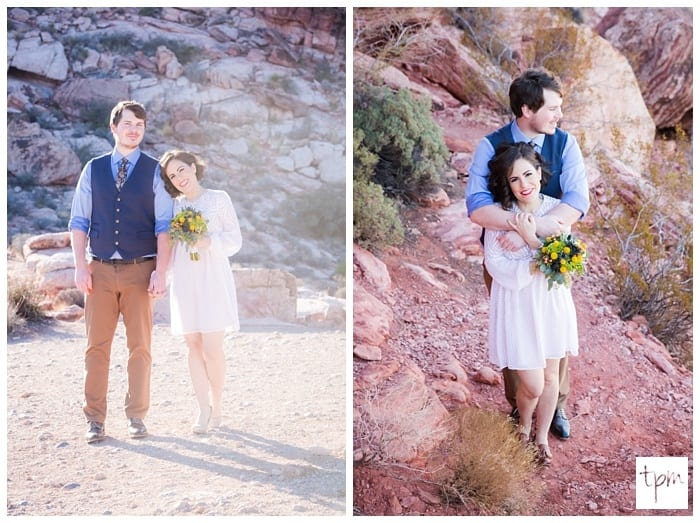 Small Wedding in Calico Basin in Red Rock Canyon