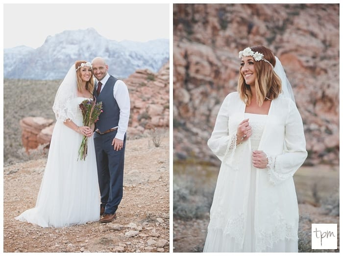 Winter Small Wedding in Calico Basin in Red Rock Canyon