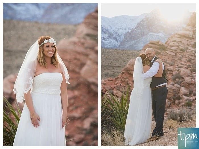 Red Rock Canyon Winter Wedding