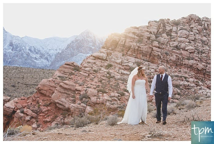 Red Rock Canyon Winter Wedding, Vegas Wedding Photographers, Edgy Wedding Photography