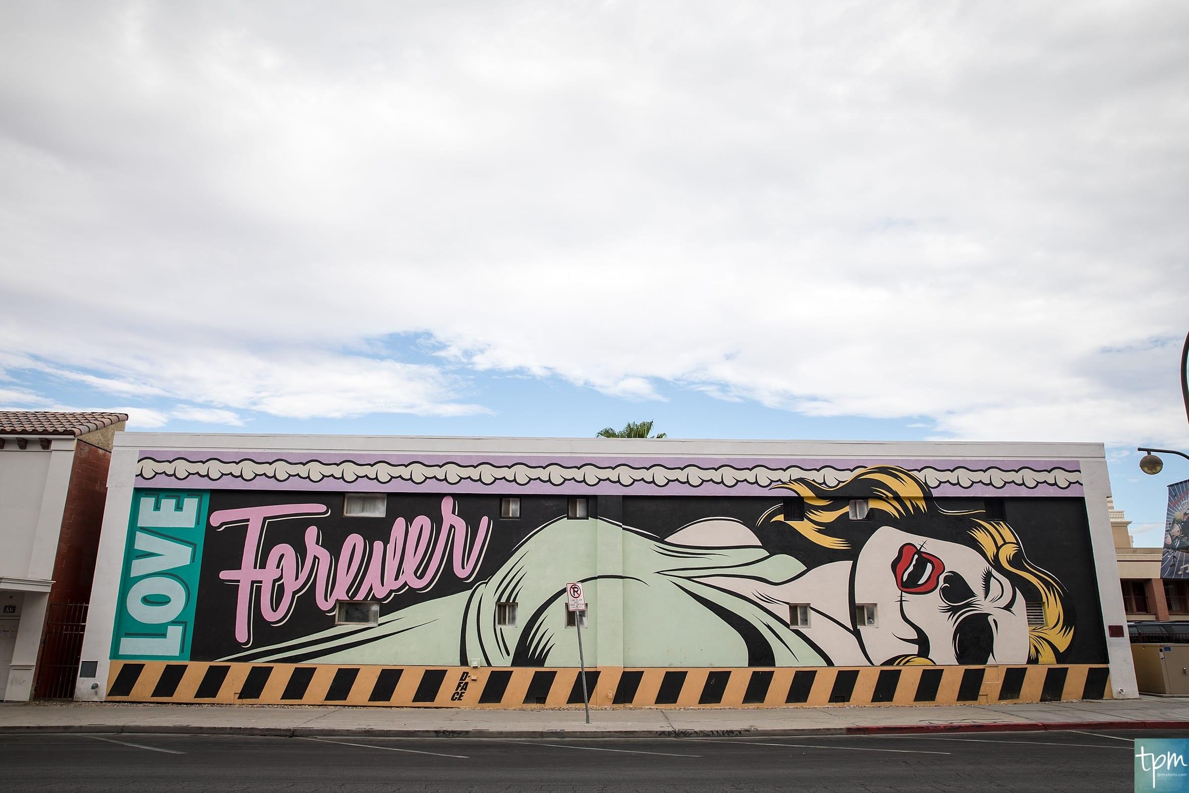 Love Forever, D*Face, Taylored Photo Memories, Las Vegas Murals