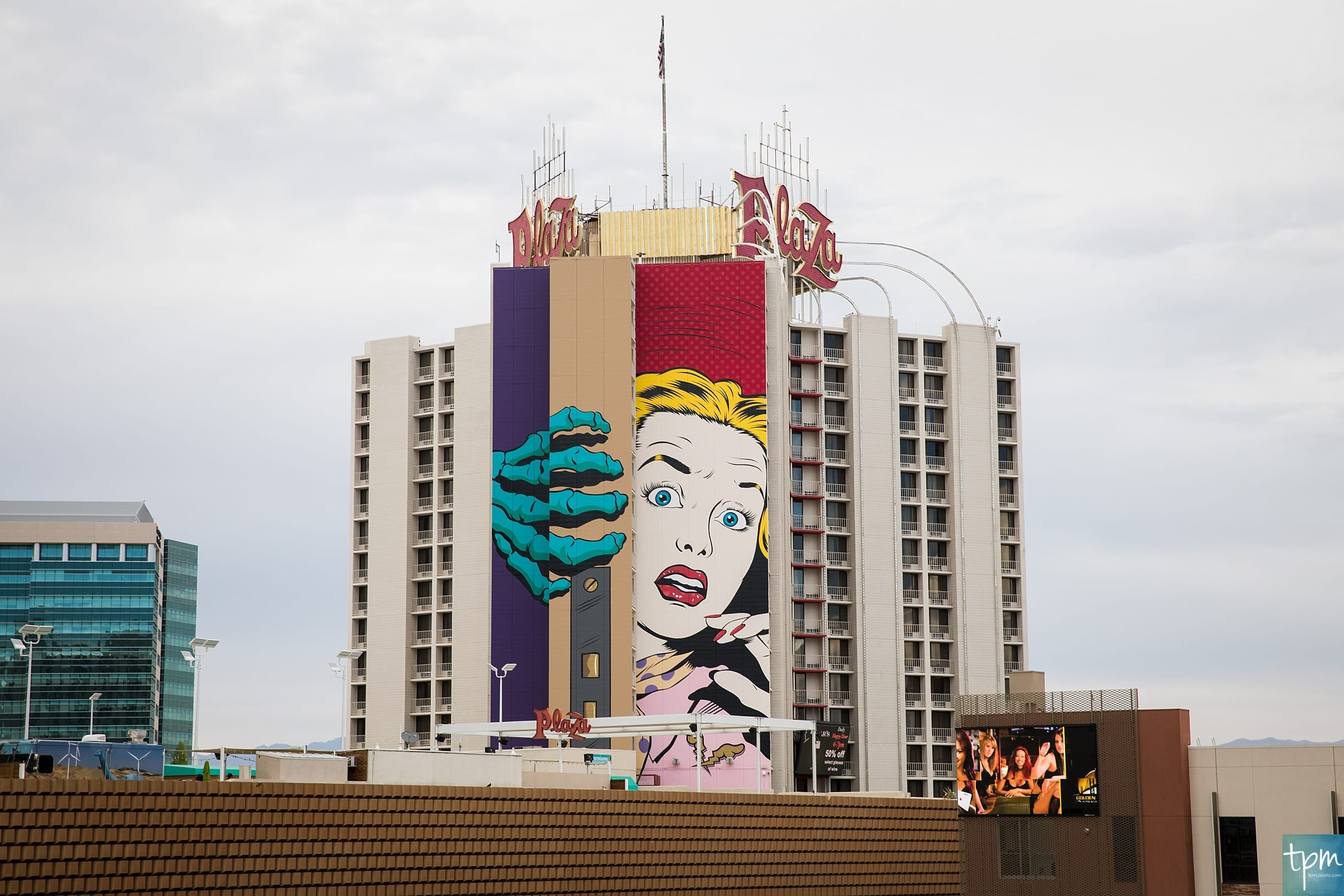 D*Face, Plaza Hotel, Taylored Photo Memories, Las Vegas Murals