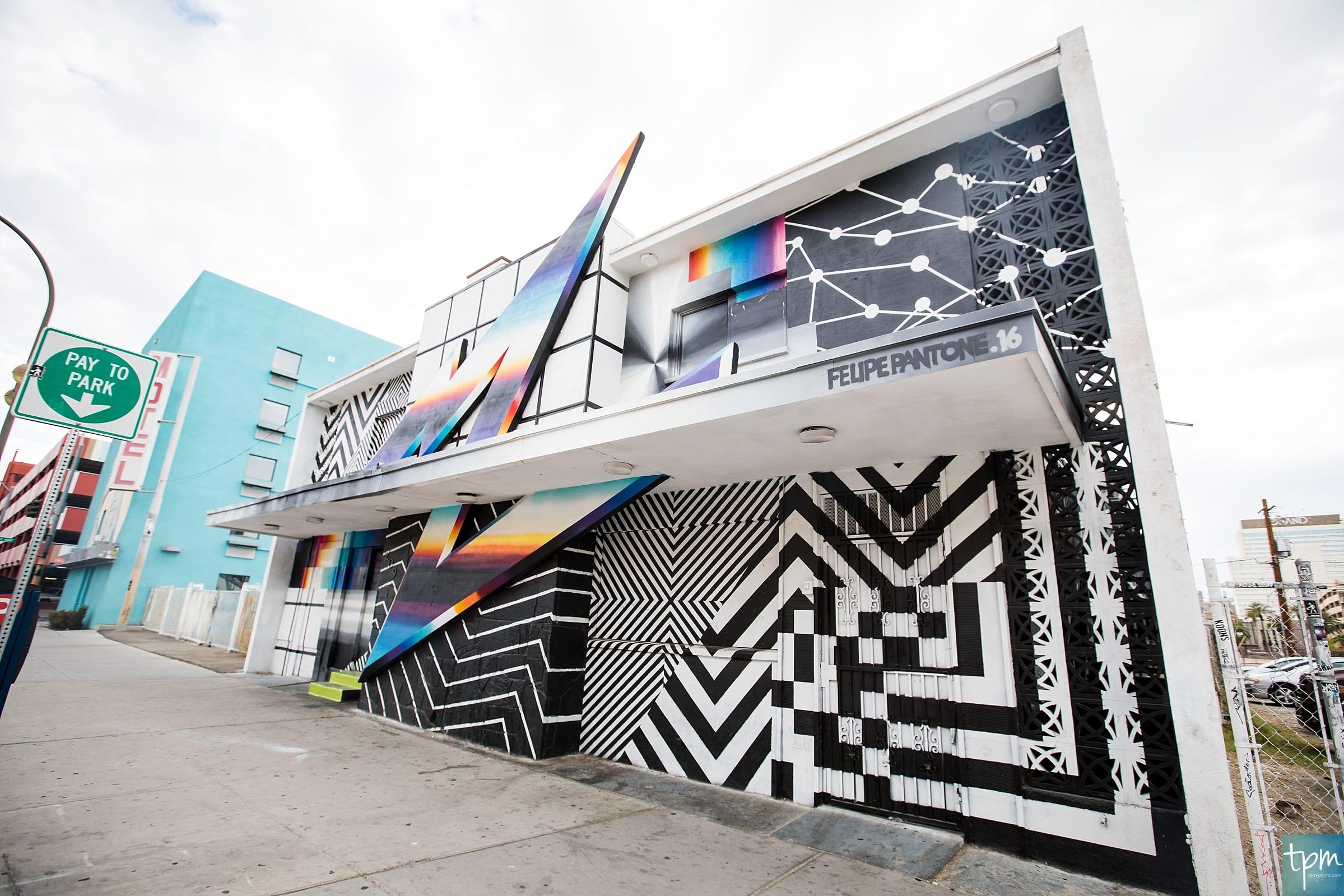 Felipe Pantone, 7th Street, Taylored Photo Memories, Las Vegas Murals