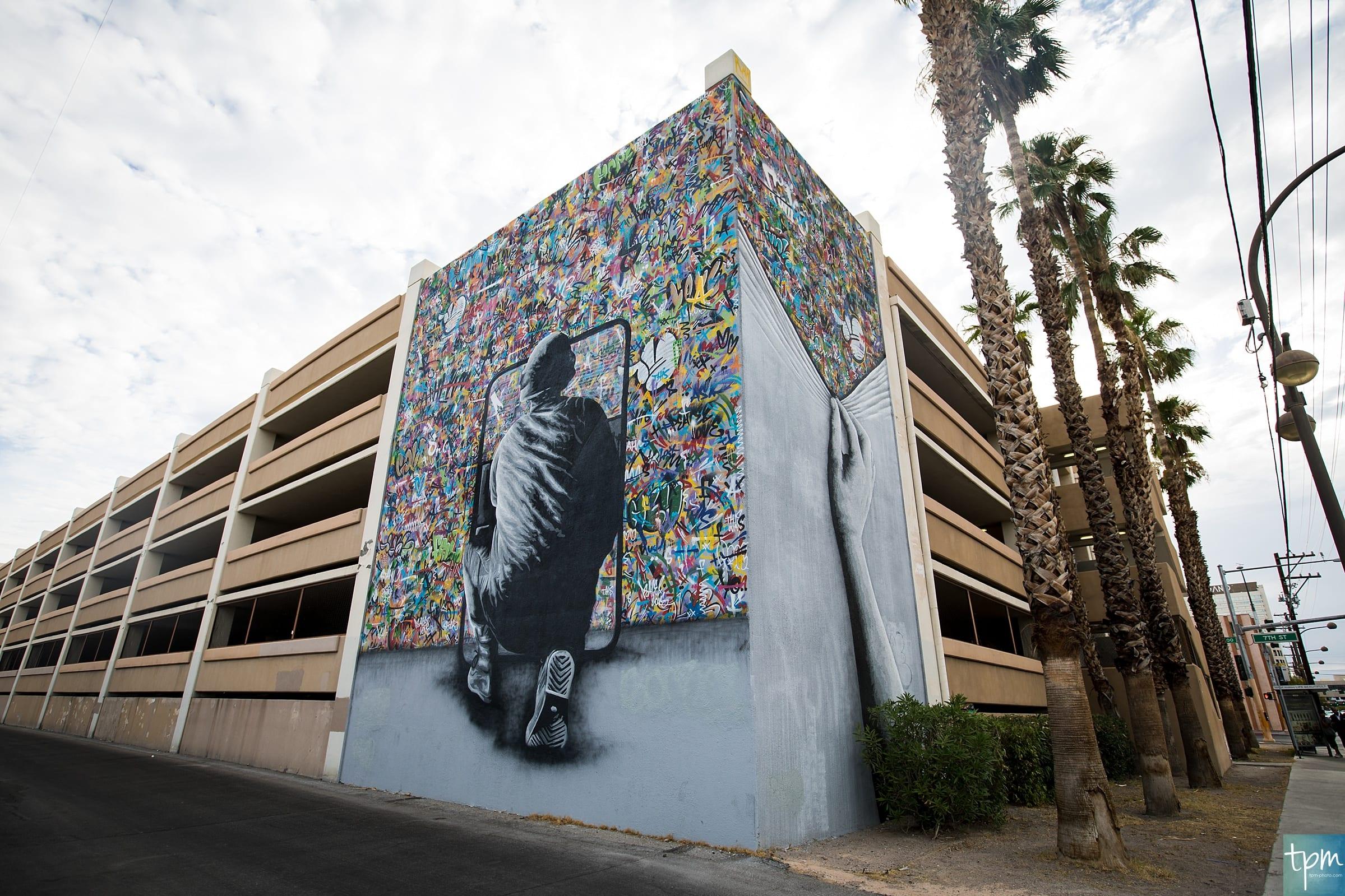 Martin Whatson, Cortez Parking Garage, Taylored Photo Memories, Las Vegas Murals