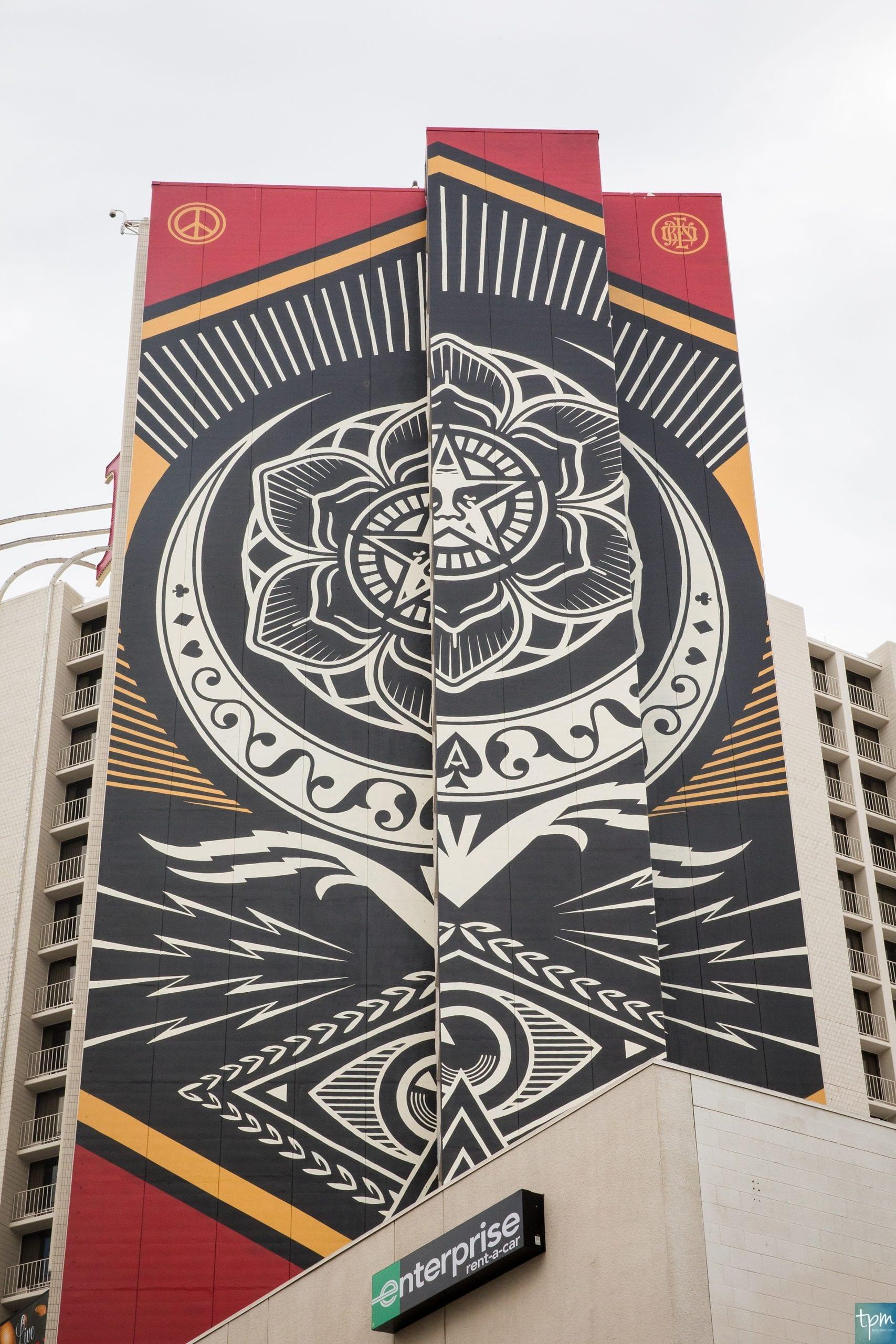 Shepard Fairey ,Plaza Hotel, Taylored Photo Memories, Las Vegas Murals