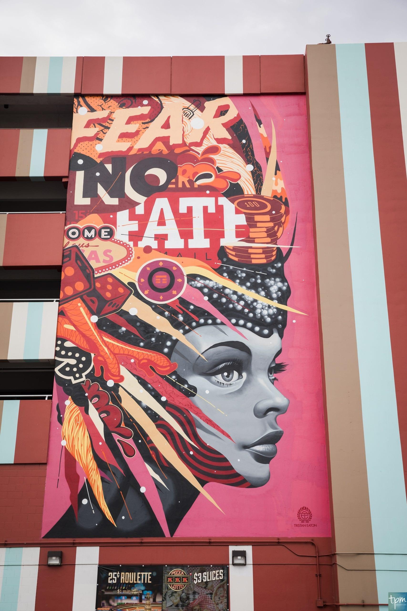 Tristan Eaton, Fear no Fate, Taylored Photo Memories, Las Vegas Murals