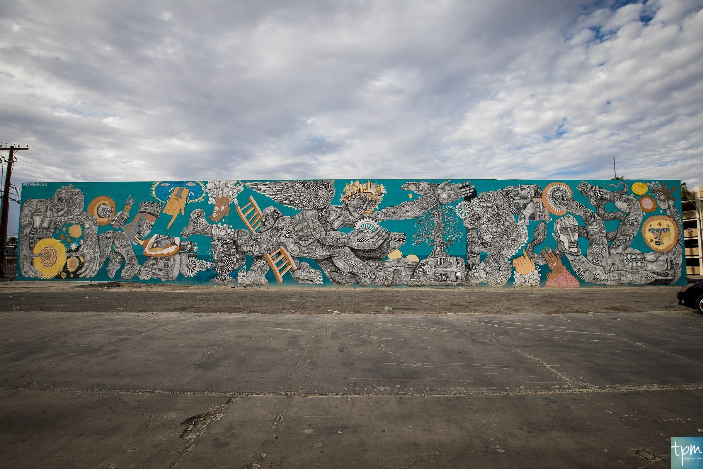 Zio Ziegler, Cycle of Civilization, 7th Street, Taylored Photo Memories, Las Vegas Murals